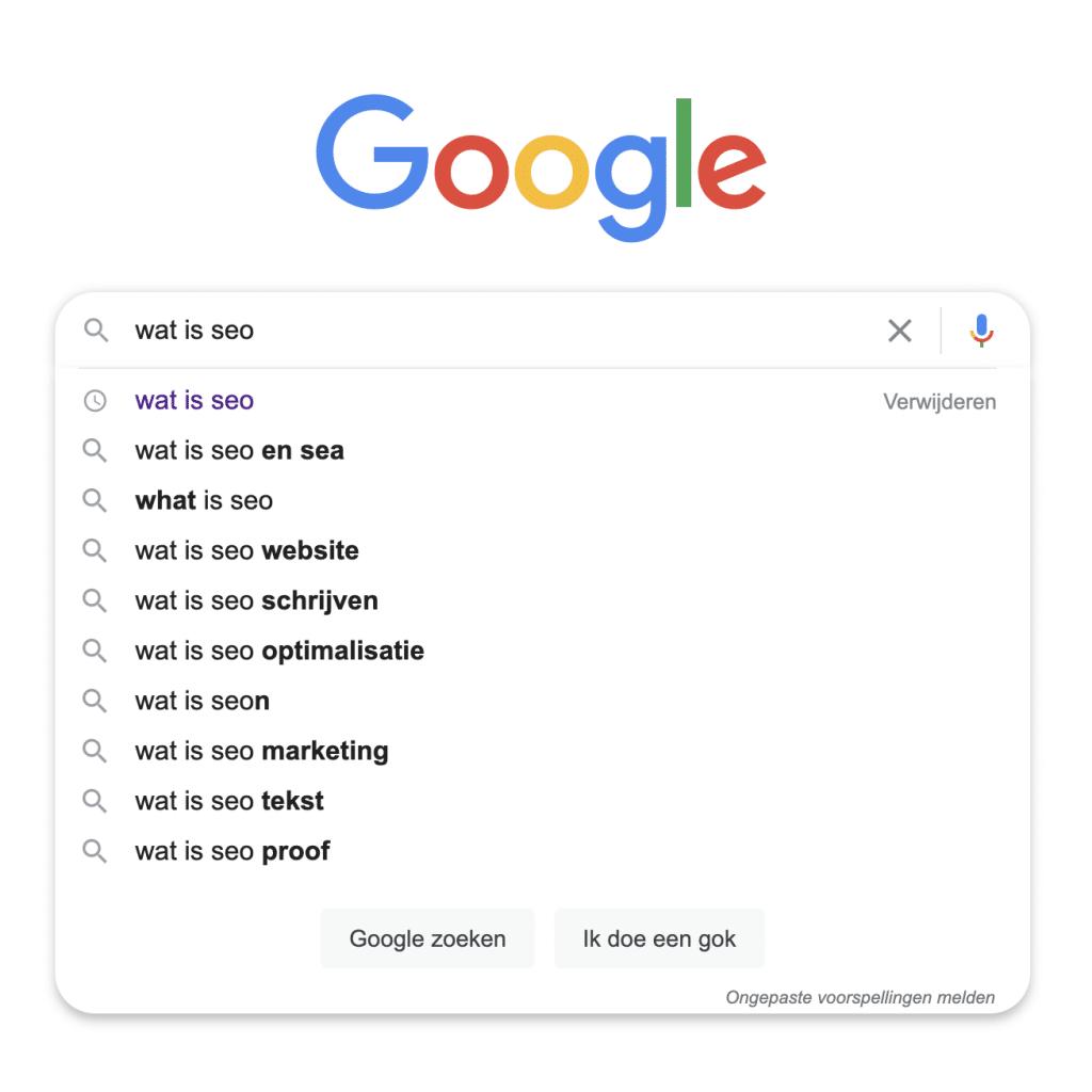 Zoekwoordonderzoek via Google