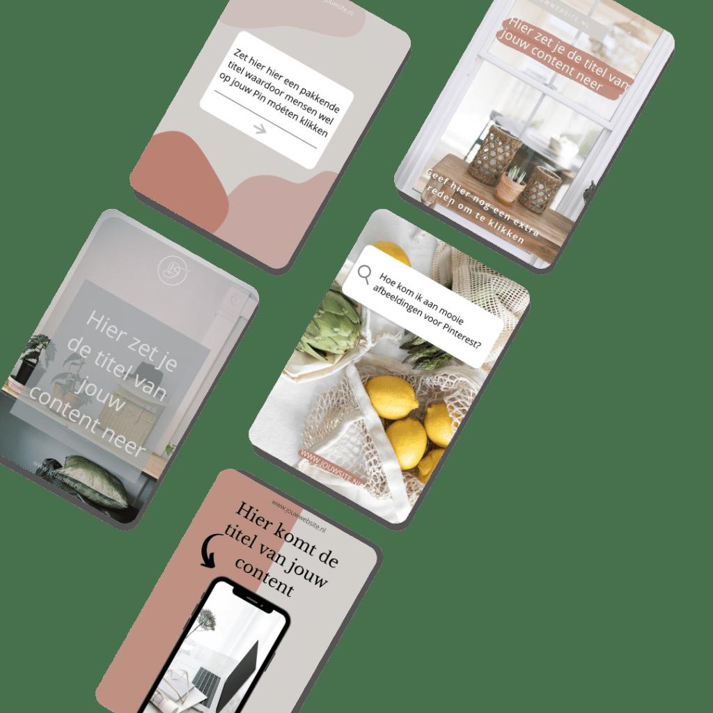 Pinterest templates transparant