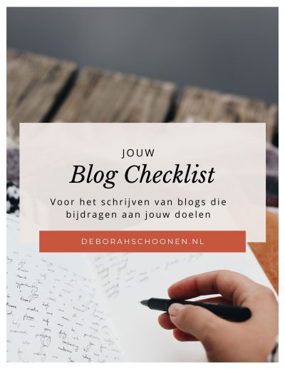 Blog checklist cover